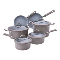 Taupe 10 pc. Non-Stick Cookware Set