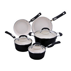 Black 8 pc. Non-Stick Cookware Set