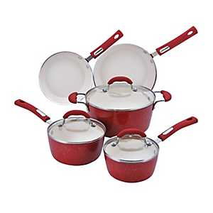 Red Speckled 8-pc. Cookware Set.