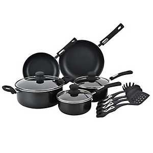 Black Aluminum 12-pc. Cookware Set