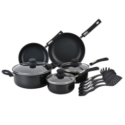 Black Aluminum 12-pc. Cookware Set