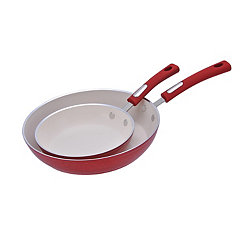 Red 2-pc. Fry Pan Set