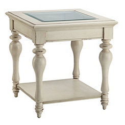 Delphi Antique White End Table