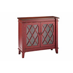 Goshen 2-Door Red Cabinet