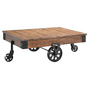 Poplar Estate Cart Coffee Table