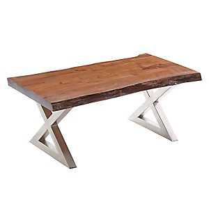 Rustic Wood Large Coffee Table