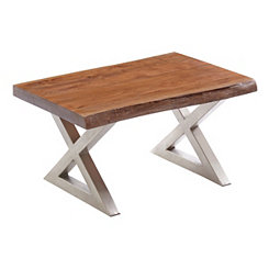 Rustic Wood Small Coffee Table