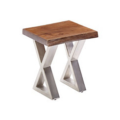 Rustic Wood Chairside Table