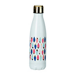 Feather White And Gold Insulated Bottle