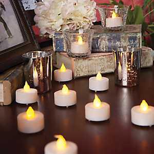 LED Tealight Candles, Set of 48
