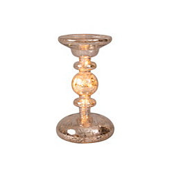 Pre-Lit Crackle Glass Candle Holder