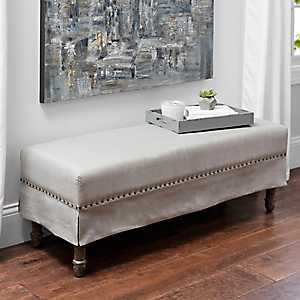 Katelyn Linen Skirted Bench