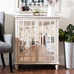 Ainsley Ivory Mirrored Cabinet