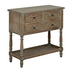 Carly Carved Wood Console Table