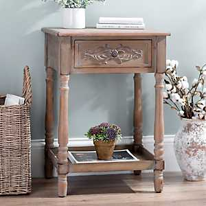 Carly 1-Drawer Accent Table