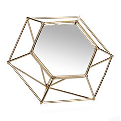 Gold Diamond Wire Decorative Table Mirror