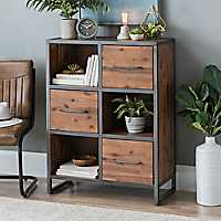 Acacia Wood 3-Drawer Cabinet