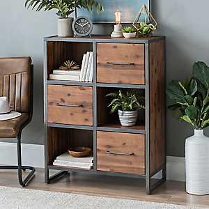 Acacia Wood 3-Drawer Cabinet