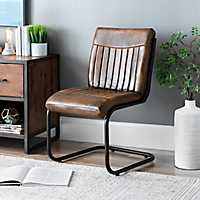 Leather and Tubular Steel Aviator Chair