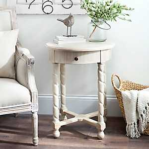 Julian Weathered Accent Table