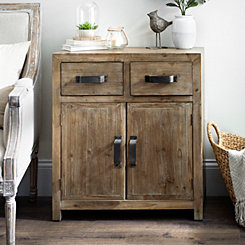 Natural Brown Rustic Wooden Cabinet