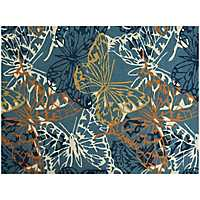 Blue Butterfly Piazza Outdoor Rug, 5x8