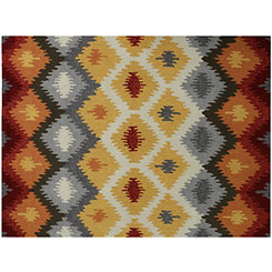 Gold Honeycomb Piazza Outdoor Rug, 5x8