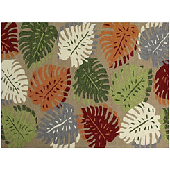 Natural Leaf Piazza Outdoor Rug, 5x8