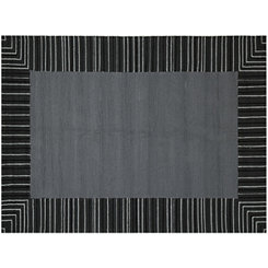 Silver Squared Piazza Outdoor Rug, 5x8