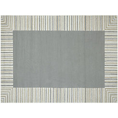 Gray Squared Piazza Outdoor Rug, 5x8