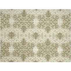Natural Medallion Piazza Outdoor Rug, 5x8