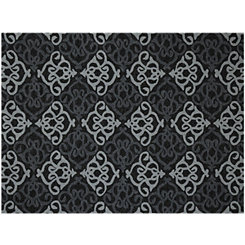 Black Augustine Piazza Outdoor Rug, 5x8
