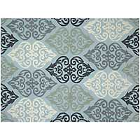 Blue Augustine Piazza Outdoor Rug, 5x8