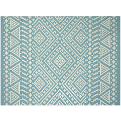 Blue Aztec Piazza Outdoor Rug, 5x8