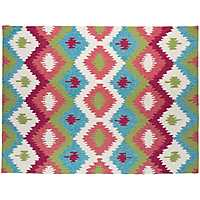 Pink Honeycomb Piazza Outdoor Rug, 5x8