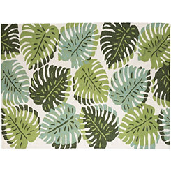 Green Leaf Piazza Outdoor Rug, 5x8