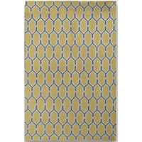 Yellow Chain Zara Accent Rug, 2x3