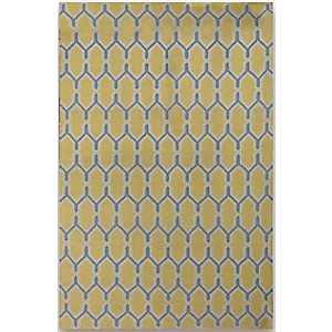 Yellow Chain Zara Accent Rug, 2x3