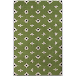 Green Geometric Zara Accent Rug, 2x3