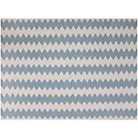 White Zigzag Zara Accent Rug, 2x3