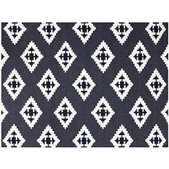 Black Aztec Zara Area Rug, 5x8