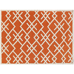 Orange Crisscross Zara Area Rug, 5x8