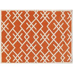 Orange Crisscross Zara Area Rug, 5x8