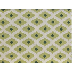 Green Diamonds Zara Area Rug, 5x8