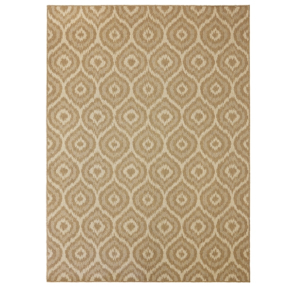 Lovely Tan Morro Area Rug, 5x8