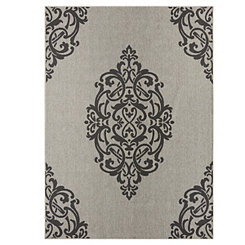 Black Paloma Area Rug, 5x8