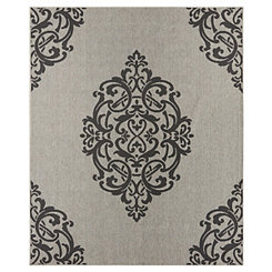 Black Paloma Area Rug, 8x10