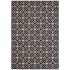 Blue Rockport Area Rug, 5x8