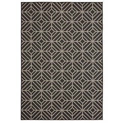 Black Rockport Area Rug, 5x8