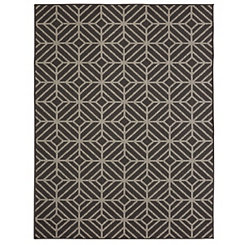 Black Rockport Area Rug, 8x10